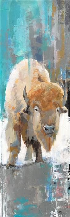 Original art for sale at UGallery.com | White Buffalo by HARPER HENRY | $850 |  | 36' h x 12' w | ..\art\acrylic-painting-White-Buffalo