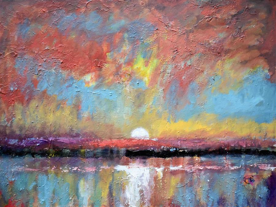 Original art for sale at UGallery.com | Sunrise #2 by KIP DECKER | $3,100 |  | 30' h x 40' w | ..\art\acrylic-painting-Sunrise-2