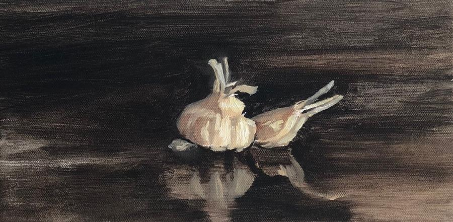 Original art for sale at UGallery.com | Garlic Knot by JESSE ALDANA | $325 |  | 6' h x 12' w | ..\art\oil-painting-Garlic-Knot