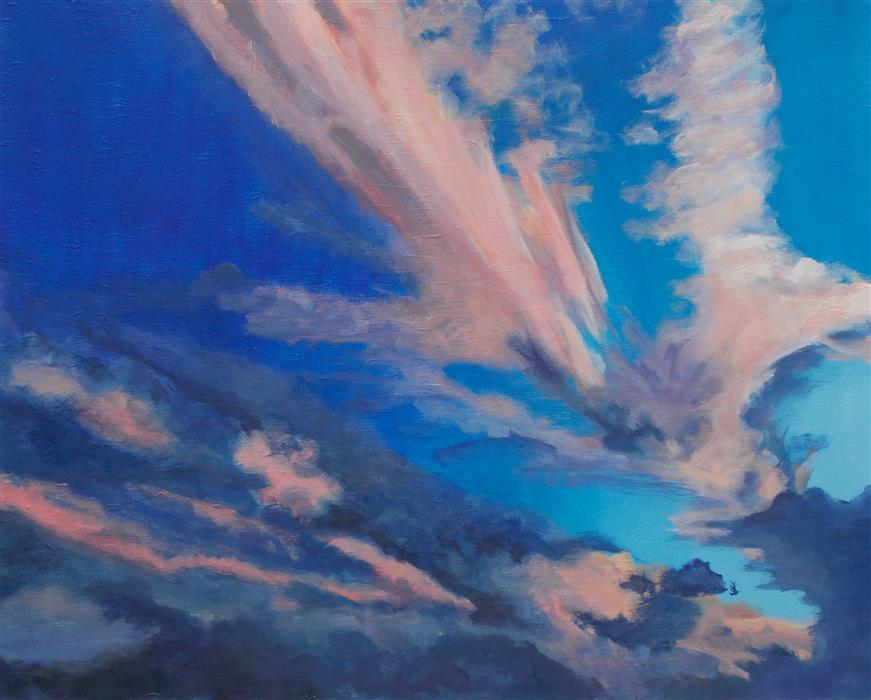 Original art for sale at UGallery.com | Painter's Sky by BENJAMIN  THOMAS | $2,500 |  | 28' h x 35' w | ..\art\acrylic-painting-Painter-s-Sky