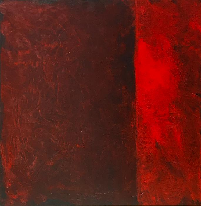 Original art for sale at UGallery.com | Red Portomento I by MANDY MAIN | $775 |  | 18' h x 18' w | ..\art\acrylic-painting-Red-Portomento-I