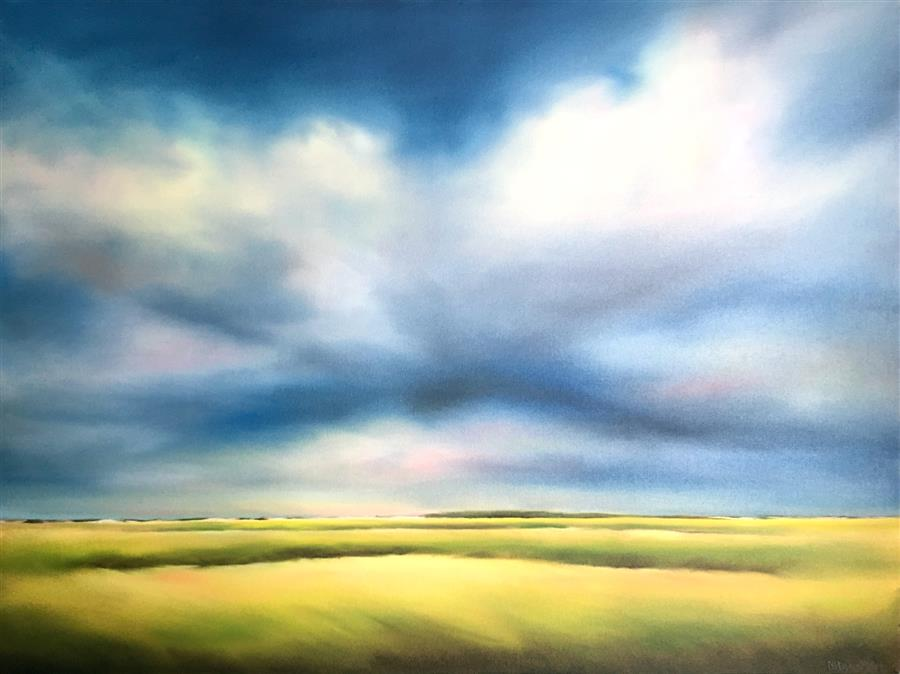 Original art for sale at UGallery.com | Marsh Morning by NANCY HUGHES MILLER | $2,100 |  | 30' h x 40' w | ..\art\oil-painting-Marsh-Morning