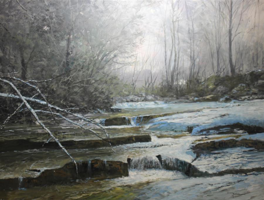 Original art for sale at UGallery.com | Spring Thaw by KENT SULLIVAN | $4,400 |  | 30' h x 40' w | ..\art\oil-painting-Spring-Thaw-60545