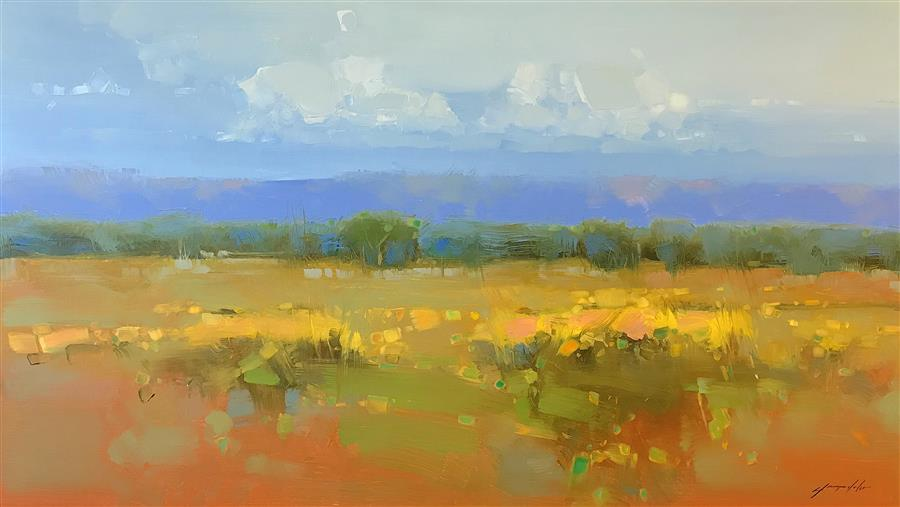 Original art for sale at UGallery.com | Flowers Valley by VAHE YEREMYAN | $2,700 |  | 30' h x 54.5' w | ..\art\oil-painting-Flowers-Valley