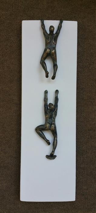 Original art for sale at UGallery.com | U-Climbers on White by YELITZA DIAZ | $850 |  | 26' h x 7.5' w | ..\art\sculpture-U-Climbers-on-White