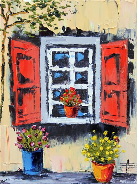 Original art for sale at UGallery.com | My Italian Summer by Lisa Elley | $350 | oil painting | 12' h x 9' w | ..\art\oil-painting-My-Italian-Summer