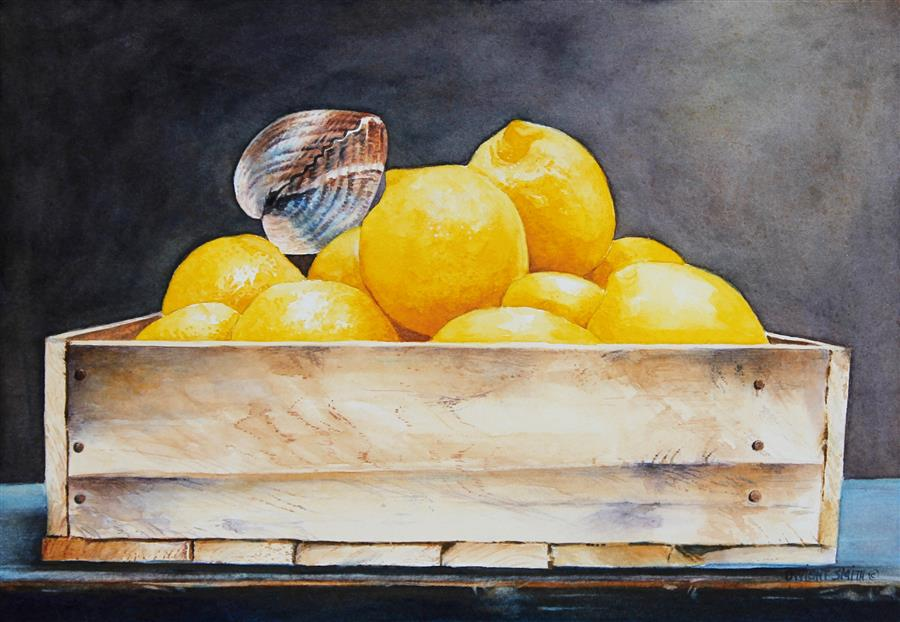 Original art for sale at UGallery.com | Clam Bed by Dwight Smith | $375 | watercolor painting | 7' h x 10' w | ..\art\watercolor-painting-Clam-Bed