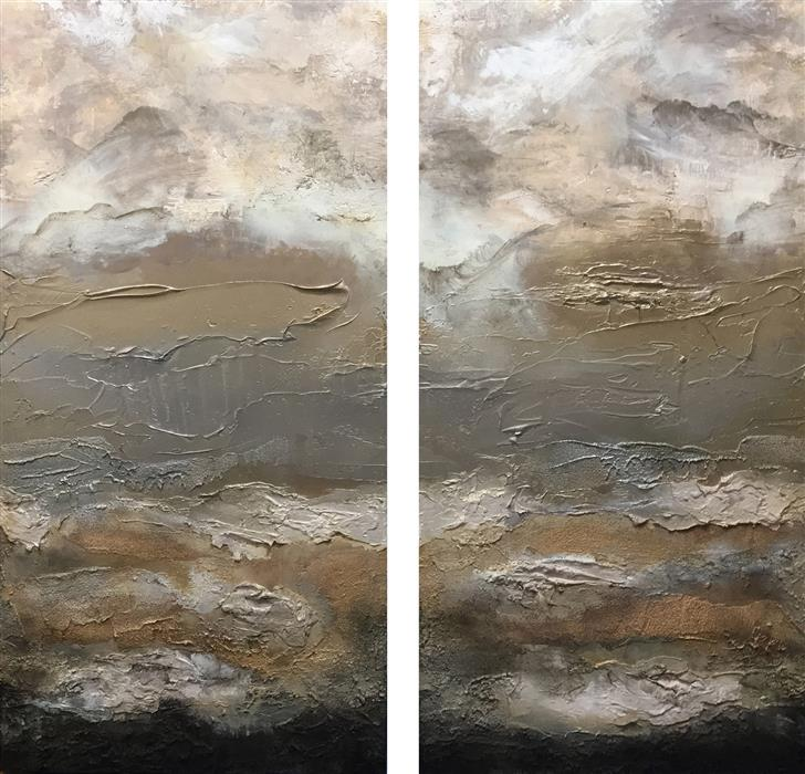 Original art for sale at UGallery.com | Sueno X (Dream) by Michele Morata | $7,175 | oil painting | 48' h x 50' w | ..\art\mixed-media-artwork-Sueno-X-Dream