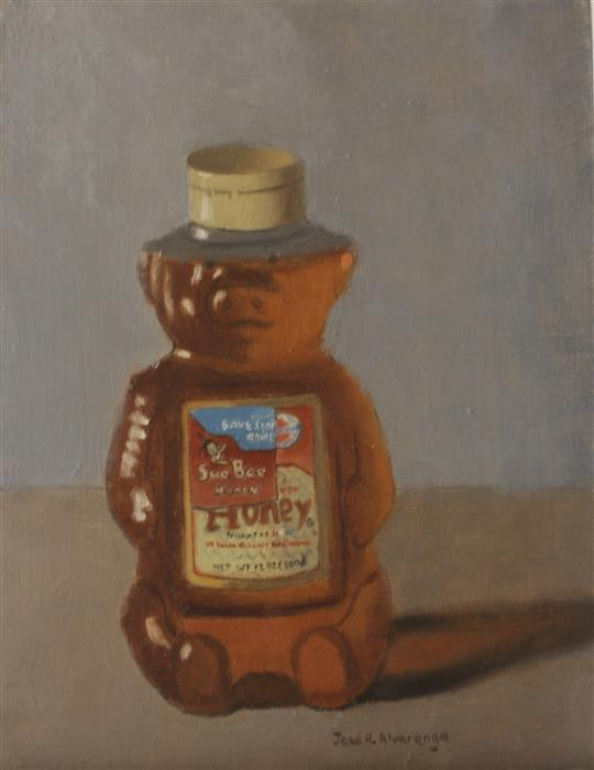 Original art for sale at UGallery.com | Honey Bear by Jose H. Alvarenga | $350 | oil painting | 8' h x 6' w | ..\art\oil-painting-Honey-Bear