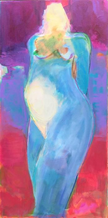 Original art for sale at UGallery.com | Mother and Child 2 by ROBIN OKUN | $3,200 |  | 48' h x 24' w | ..\art\acrylic-painting-Mother-and-Child-2