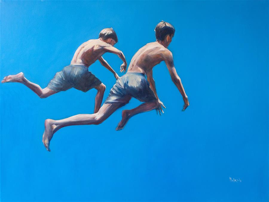 Original art for sale at UGallery.com | Flight by Nata Zaikina | $1,600 | oil painting | 30' h x 40' w | ..\art\oil-painting-Flight-60891