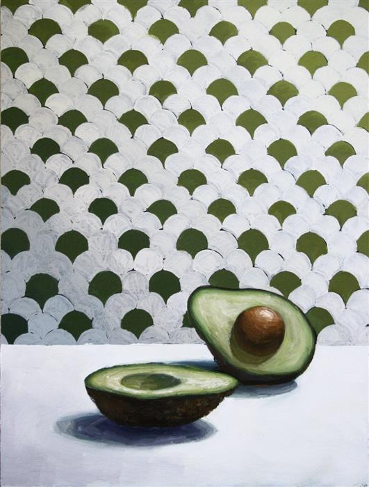 Original art for sale at UGallery.com | Avocado Accord by AMBER ALLEN | $300 |  | 12' h x 9' w | ..\art\oil-painting-Avocado-Accord