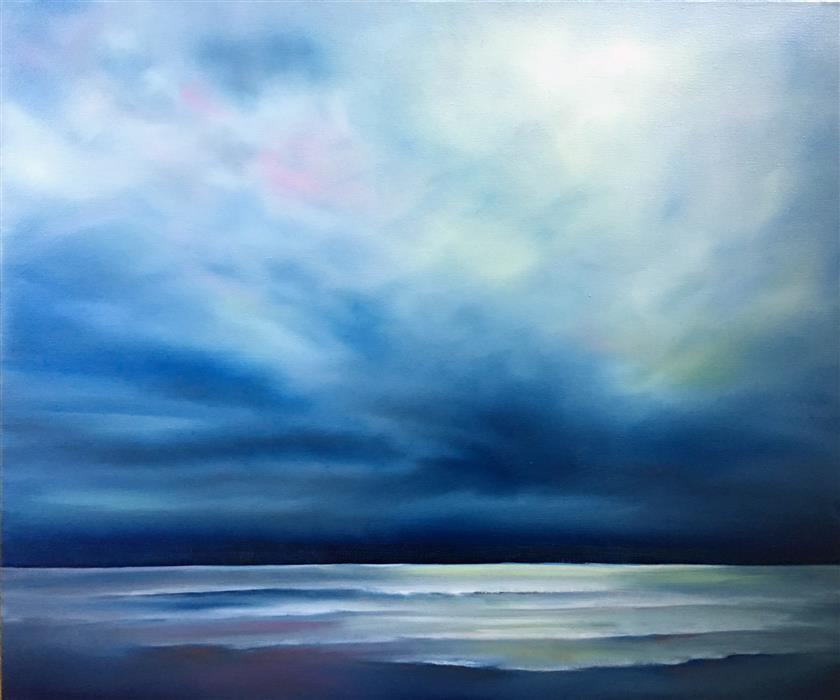 Original art for sale at UGallery.com | Ocean Light by Nancy Hughes Miller | $900 | oil painting | 20' h x 24' w | ..\art\oil-painting-Ocean-Light