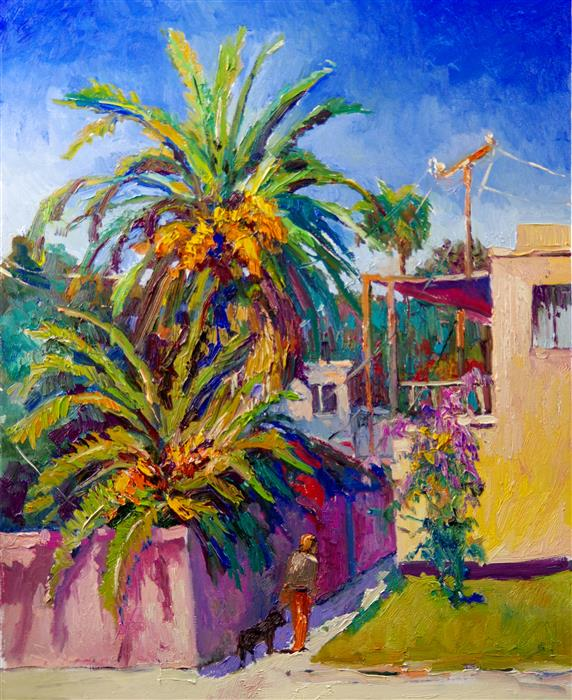 Original art for sale at UGallery.com | Warm Summer Day in California, Noon by Suren Nersisyan | $1,300 | oil painting | 30' h x 24' w | ..\art\oil-painting-Warm-Summer-Day-in-California-Noon