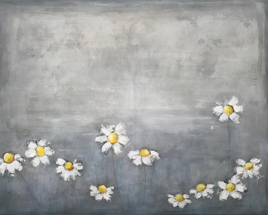 Original art for sale at UGallery.com | Lazy Daisy by DREW NOEL MARIN | $5,775 |  | 48' h x 60' w | ..\art\acrylic-painting-Lazy-Daisy