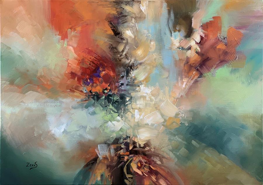 Original art for sale at UGallery.com | Hold My Breath by Sandra Zekk | $850 | oil painting | 20' h x 28' w | ..\art\oil-painting-Hold-My-Breath