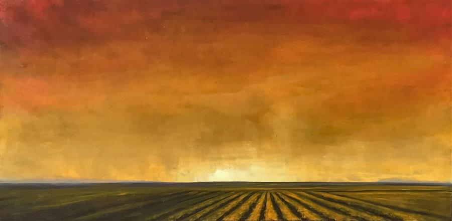 Original art for sale at UGallery.com | Luminous Field VIII by Mandy Main | $2,600 | oil painting | 24' h x 48' w | ..\art\oil-painting-Luminous-Field-VIII