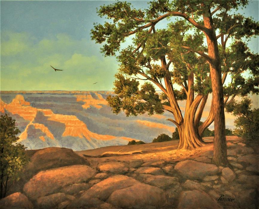 Original art for sale at UGallery.com | Grand Canyon View by ROBERT PENNOR | $2,675 |  | 24' h x 30' w | ..\art\oil-painting-Grand-Canyon-View