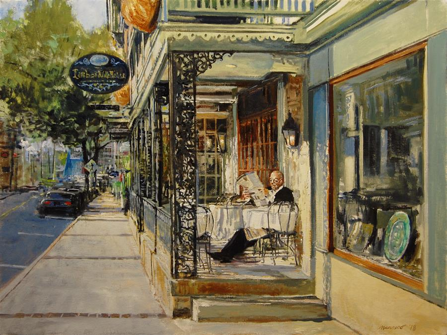 Original art for sale at UGallery.com | Lambertville House by ONELIO MARRERO | $1,025 |  | 18' h x 24' w | ..\art\oil-painting-Lambertville-House