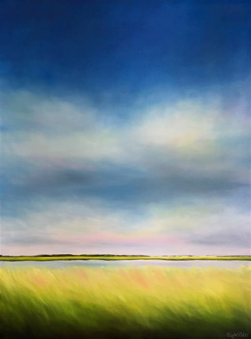 Original art for sale at UGallery.com | Marsh Breeze by Nancy Hughes Miller | $3,100 | oil painting | 48' h x 36' w | ..\art\oil-painting-Marsh-Breeze
