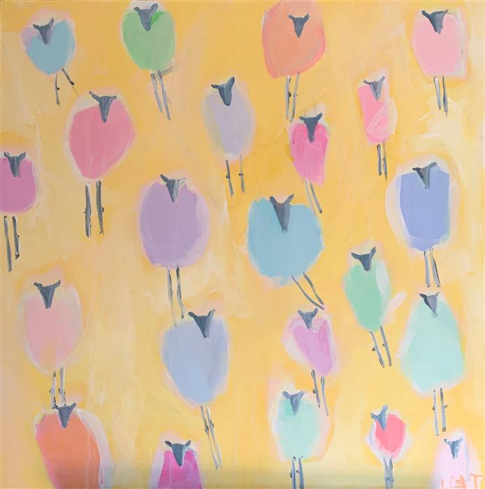 Original art for sale at UGallery.com | You Are My Sunshine by Lesli DeVito | $1,550 | acrylic painting | 30' h x 30' w | ..\art\acrylic-painting-You-are-My-Sunshine-61184