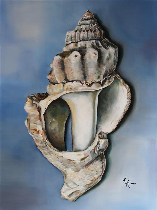 Original art for sale at UGallery.com | Broken Seashell by Kristine Kainer | $4,375 | oil painting | 40' h x 30' w | ..\art\oil-painting-Broken-Seashell