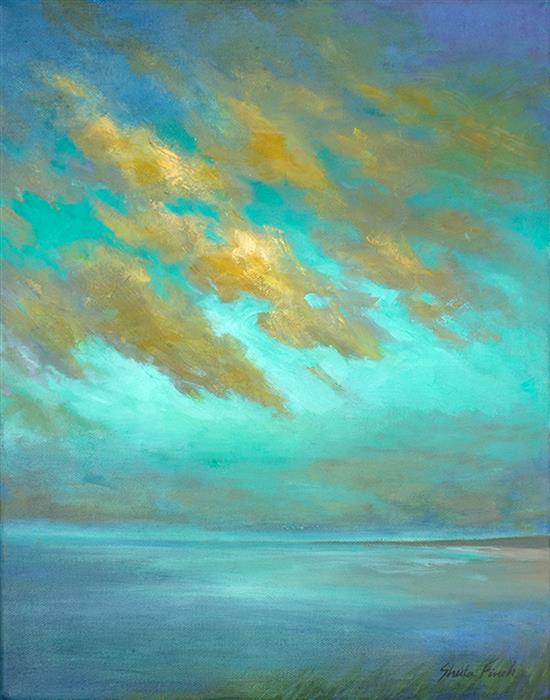 Original art for sale at UGallery.com | Tropical Clouds by SHEILA FINCH | $975 |  | 14' h x 11' w | ..\art\oil-painting-Tropical-Clouds