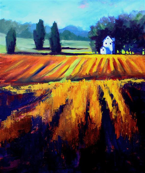 Original art for sale at UGallery.com | In the Country by Nancy Merkle | $850 | acrylic painting | 24' h x 20' w | ..\art\acrylic-painting-In-the-Country-61334