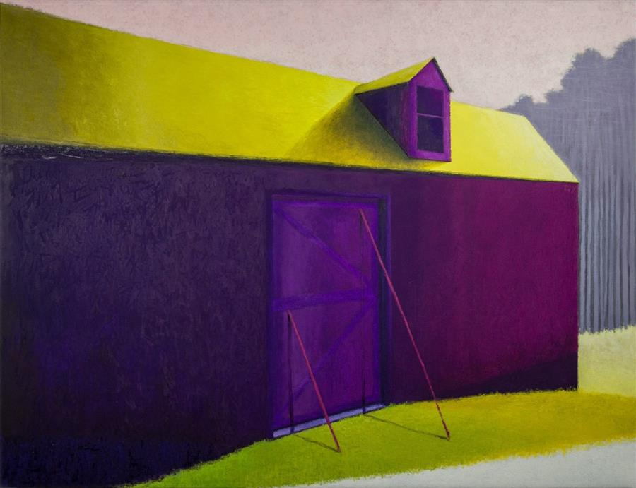 Original art for sale at UGallery.com | Aubergine Barn by SEAN WILLIAMS | $3,300 |  | 40' h x 52' w | ..\art\oil-painting-Aubergine-Barn