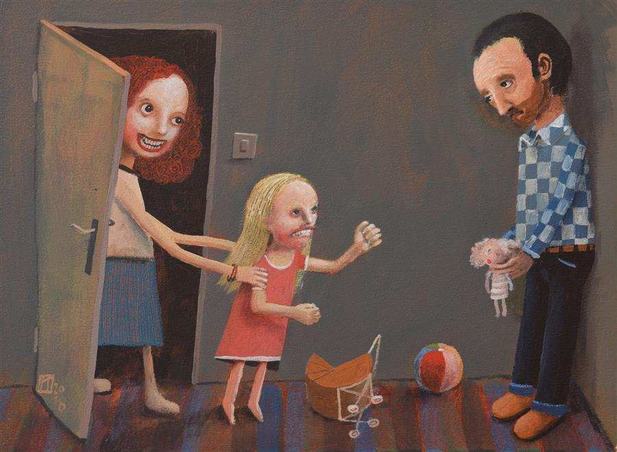 Original art for sale at UGallery.com | Parental Alienation Syndrome by Krzysztof Iwin | $1,550 | acrylic painting | 11.81' h x 15.75' w | ..\art\acrylic-painting-Parental-Alienation-Syndrome