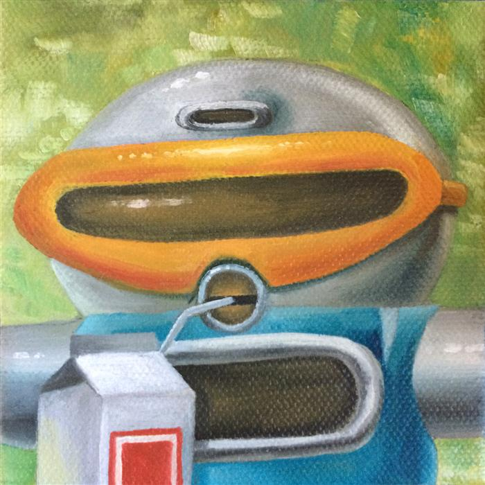 Original art for sale at UGallery.com | Squirt by Diane Flick | $75 | oil painting | 4' h x 4' w | ..\art\oil-painting-Squirt