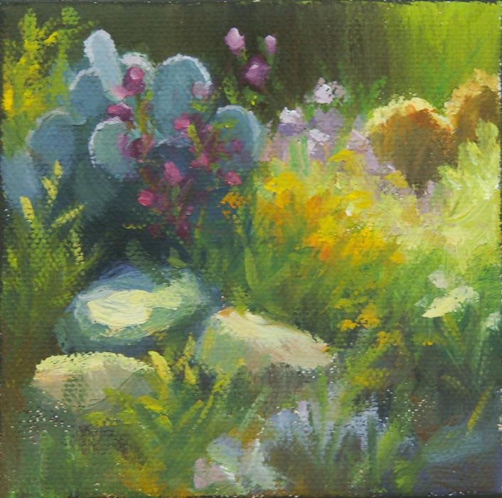 Original art for sale at UGallery.com | Spring Morning by SHERRI ALDAWOOD | $75 |  | 4' h x 4' w | ..\art\oil-painting-Spring-Morning-61560