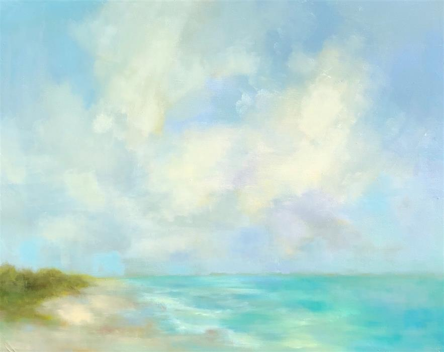 Original art for sale at UGallery.com | Ocean Dream by FAITH TAYLOR | $1,475 |  | 24' h x 30' w | ..\art\oil-painting-Ocean-Dream