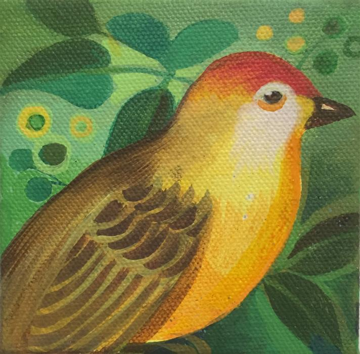 Original art for sale at UGallery.com | Vireo by JOHNNY KARWAN | $75 |  | 4' h x 4' w | ..\art\acrylic-painting-Vireo