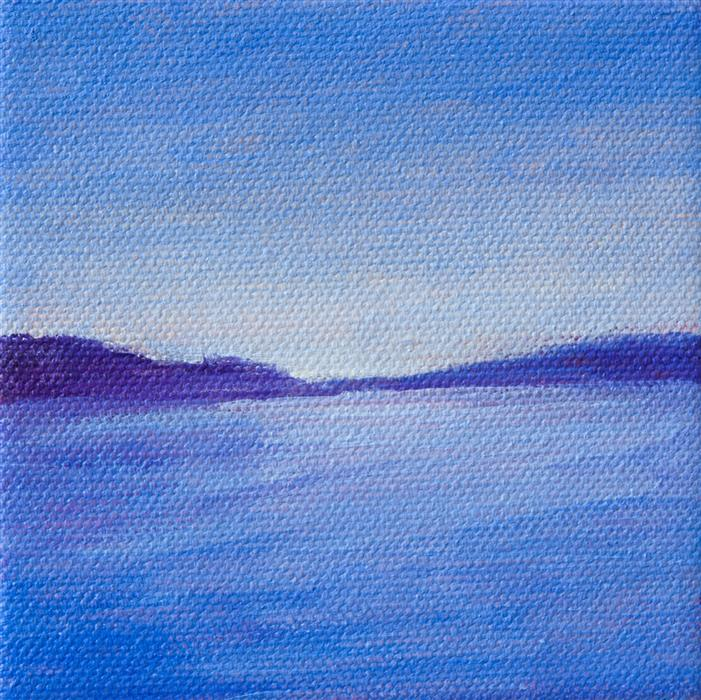 Original art for sale at UGallery.com | Blue Mood by VICTORIA VEEDELL | $75 |  | 4' h x 4' w | ..\art\oil-painting-Blue-Mood