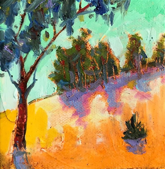 Original art for sale at UGallery.com | Arastradero by JAMES HARTMAN | $75 |  | 4' h x 4' w | ..\art\oil-painting-Arastradero
