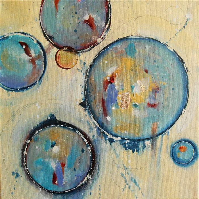 Original art for sale at UGallery.com | Blue Tuesday by Cynthia Ligeros | $475 | oil painting | 12' h x 12' w | ..\art\oil-painting-Blue-Tuesday
