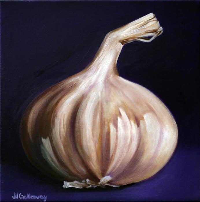 Original art for sale at UGallery.com | Garlic by JJ Galloway | $325 | oil painting | 12' h x 12' w | ..\art\oil-painting-Garlic-61915
