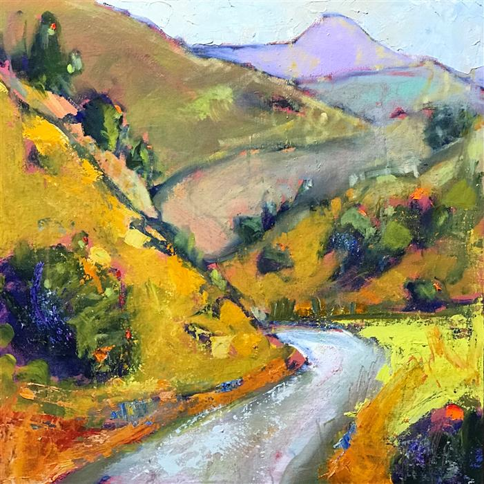 Original art for sale at UGallery.com | Curve in the Road by James Hartman | $1,300 | oil painting | 24' h x 24' w | ..\art\oil-painting-Curve-in-the-Road