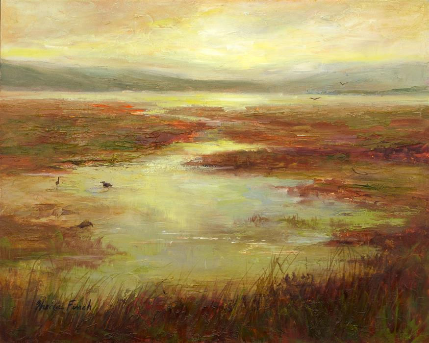 Original art for sale at UGallery.com | South Bay by Sheila Finch | $700 | oil painting | 8' h x 10' w | ..\art\oil-painting-South-Bay-61940
