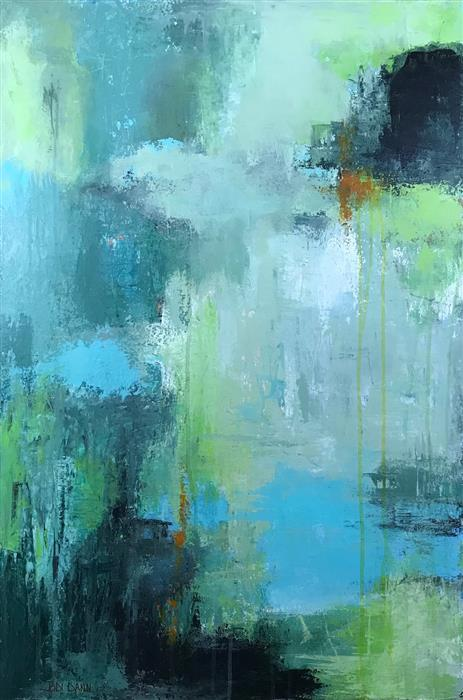 Original art for sale at UGallery.com | Waters Edge by Jodi  Dann | $1,300 | acrylic painting | 36' h x 24' w | ..\art\acrylic-painting-Waters-Edge