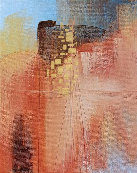 Original art for sale at UGallery.com | Desert Oasis 2 by Nicholas Foschi | $250 | acrylic painting | 10' h x 8' w | ..\art\acrylic-painting-Desert-Oasis-2