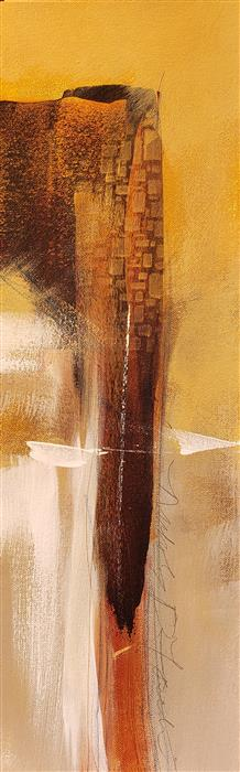 Original art for sale at UGallery.com   Golden Cliffs 1 by Nicholas Foschi   $325   acrylic painting   18' h x 6' w   ..\art\acrylic-painting-Golden-Cliffs-1