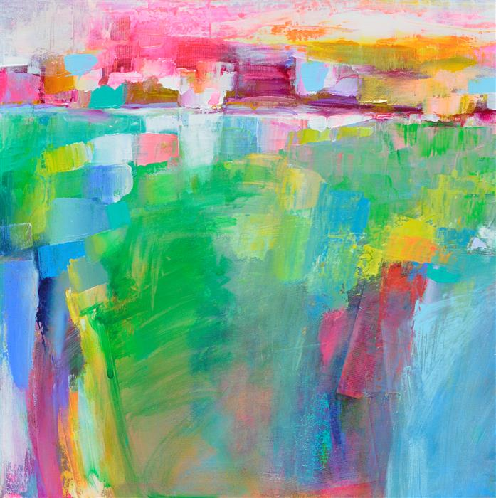Original art for sale at UGallery.com | Landscape Abstraction - The Color Fields by Patrick O'Boyle | $750 | acrylic painting | 24' h x 24' w | ..\art\acrylic-painting-Landscape-Abstraction-The-Color-Fields