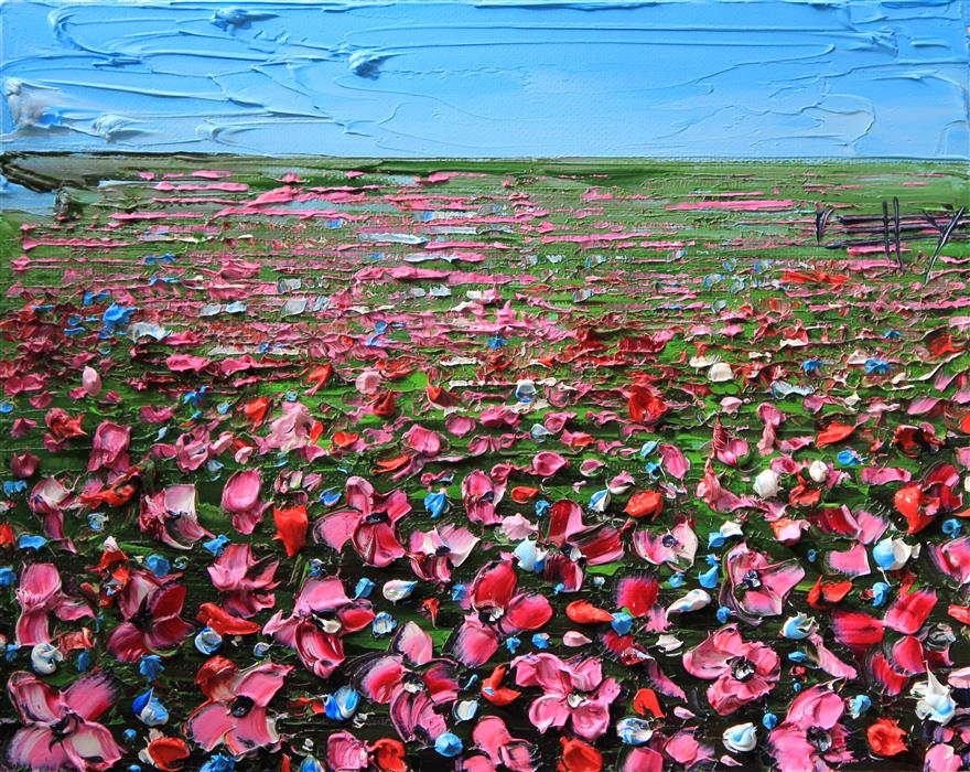 Original art for sale at UGallery.com | Field of Hope by Lisa Elley | $300 | oil painting | 8' h x 10' w | ..\art\oil-painting-Field-of-Hope