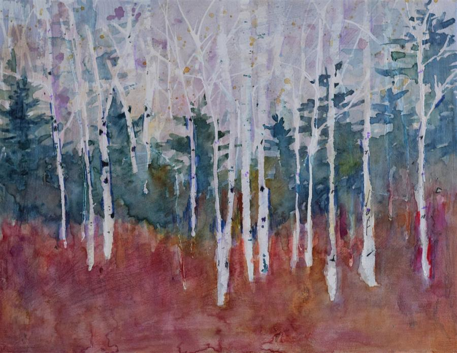 Original art for sale at UGallery.com | Blissed by TAMARA GONDA | $475 |  | 11' h x 14' w | ..\art\watercolor-painting-Blissed
