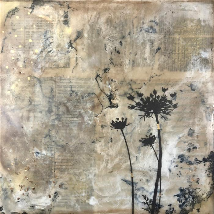 Original art for sale at UGallery.com | The Queen by Shannon Amidon | $525 | encaustic artwork | 12' h x 12' w | ..\art\encaustic-artwork-The-Queen