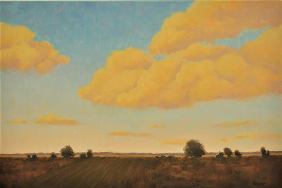 Original art for sale at UGallery.com | Big Sky by Robert Pennor | $1,400 | oil painting | 24' h x 36' w | ..\art\oil-painting-Big-Sky-62200