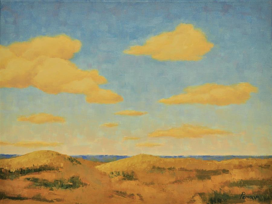 Original art for sale at UGallery.com | Sunny Dunes by ROBERT PENNOR | $800 |  | 18' h x 24' w | ..\art\oil-painting-Sunny-Dunes