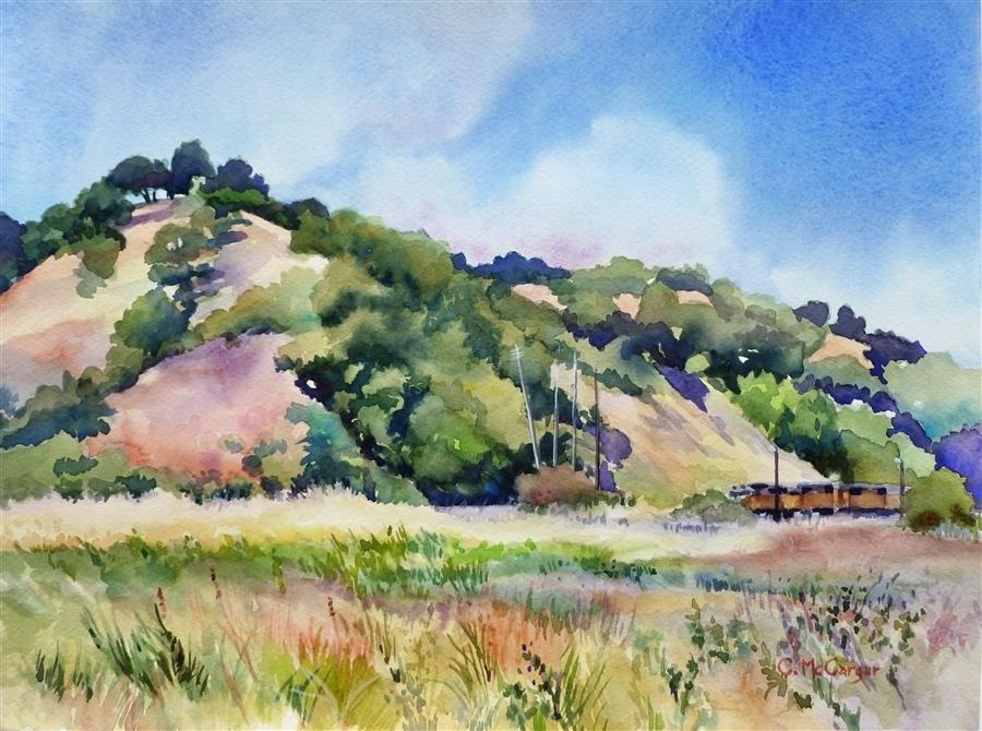 Original art for sale at UGallery.com | In View by CATHERINE MCCARGAR | $575 |  | 12' h x 16' w | ..\art\watercolor-painting-In-View